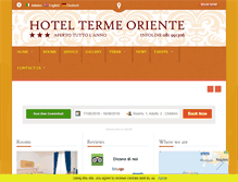Tablet Preview of orientehotel.it